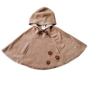 Natural Charm Fleece Poncho, Tan, 2T+ (One Size)